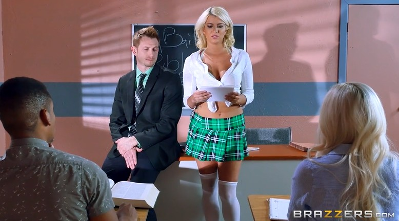 The oral exam by college blonde